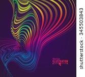 abstract rainbow lines design....   Shutterstock .eps vector #345503843