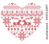 scandinavian nordic winter... | Shutterstock .eps vector #345511097