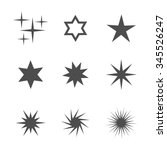 set of stars icons. vector... | Shutterstock .eps vector #345526247