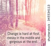 inspirational typographic quote ... | Shutterstock . vector #345534113