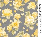 Seamless Yellow Flower Pattern...