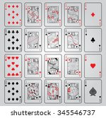 set of playing cards vector ... | Shutterstock .eps vector #345546737