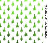 christmas tree green and white... | Shutterstock . vector #345586553