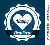 happy new year design  vector... | Shutterstock .eps vector #345590117