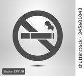 no smoke icon. stop smoking... | Shutterstock .eps vector #345601043