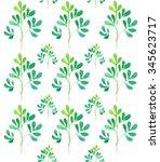 watercolor seamless pattern... | Shutterstock . vector #345623717