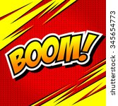boom    comic speech bubble ... | Shutterstock .eps vector #345654773