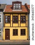 old houses in odense  funen... | Shutterstock . vector #345660377