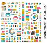 mega set infographics flat... | Shutterstock .eps vector #345688727