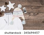 warm winter clothes | Shutterstock . vector #345694457