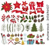 merry christmas and happy new...   Shutterstock .eps vector #345696437