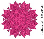 vector stylish floral arabic... | Shutterstock .eps vector #345704507