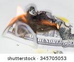100 usd burn | Shutterstock . vector #345705053