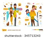 winter characters set | Shutterstock .eps vector #345713243