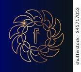 hand drawn ornamental alphabet | Shutterstock .eps vector #345717053