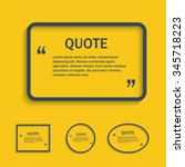 quote line text box  design... | Shutterstock . vector #345718223