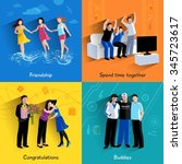 friends buddies special events... | Shutterstock .eps vector #345723617