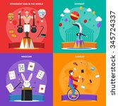 Circus Concept Icons Set With...