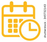 timetable vector icon. style is ... | Shutterstock .eps vector #345732143