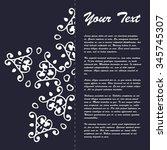 vintage style brochure template ... | Shutterstock .eps vector #345745307