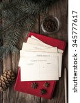 set for writing christmas... | Shutterstock . vector #345777617
