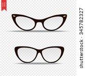 glasses isolated on transparent ... | Shutterstock .eps vector #345782327