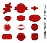 vintage red christmas labels... | Shutterstock .eps vector #345784367