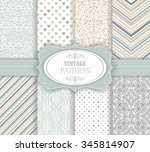 set of seamless background of... | Shutterstock .eps vector #345814907