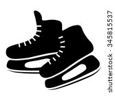 hockey skates flat vector icon... | Shutterstock .eps vector #345815537