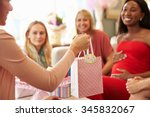 close up of gift for pregnant... | Shutterstock . vector #345832067