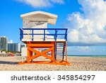 miami beach florida  usa famous ... | Shutterstock . vector #345854297