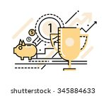 business successful and victory ... | Shutterstock .eps vector #345884633