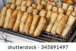 freshly deep fried spring roll... | Shutterstock . vector #345891497