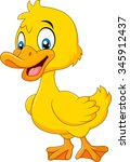 cute baby duck posing isolated... | Shutterstock . vector #345912437