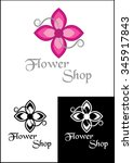 flowers shop | Shutterstock .eps vector #345917843