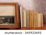 Vintage Radio On A Desk
