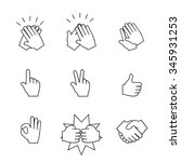 set of two hands icons. ... | Shutterstock .eps vector #345931253