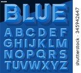vector 3d blue simple bold... | Shutterstock .eps vector #345942647