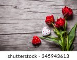 valentines day background with... | Shutterstock . vector #345943613