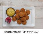 dutch snack bitterballen with... | Shutterstock . vector #345944267