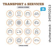 transport and services icons.... | Shutterstock . vector #345952013