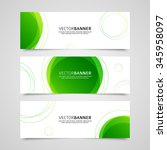 set of vector banners design... | Shutterstock .eps vector #345958097