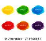 set of vector colorful round... | Shutterstock .eps vector #345965567