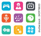 entertainment icons. game ... | Shutterstock . vector #345978833
