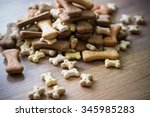 Stock photo pet food dog bones 345985283