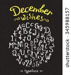 december wishes handwritten... | Shutterstock .eps vector #345988157