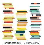 stack of books. vector... | Shutterstock .eps vector #345988247