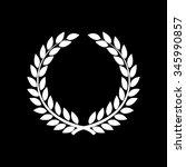 laurel wreathvector icon... | Shutterstock .eps vector #345990857