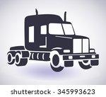 silhouette of american truck...   Shutterstock .eps vector #345993623