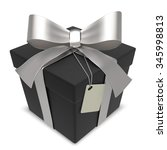 vector black gift box. matte... | Shutterstock .eps vector #345998813